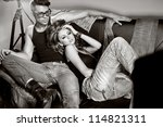 sexy man and woman doing a... | Shutterstock . vector #114821311