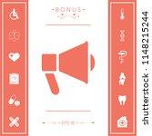 speaker  bullhorn icon | Shutterstock .eps vector #1148215244