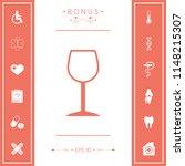 wineglass symbol icon | Shutterstock .eps vector #1148215307