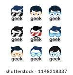 geek nerd programmer gamer... | Shutterstock .eps vector #1148218337