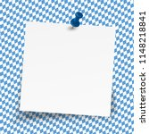 sticky paper on blue and white... | Shutterstock .eps vector #1148218841