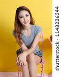 beautiful asian woman relax in... | Shutterstock . vector #1148226344