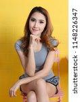 beautiful asian woman relax in... | Shutterstock . vector #1148226347