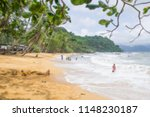 blurred of people travel and... | Shutterstock . vector #1148230187