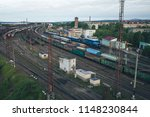 railway station with lots of... | Shutterstock . vector #1148230844