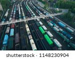 railway station with lots of... | Shutterstock . vector #1148230904