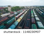 railway station with lots of... | Shutterstock . vector #1148230907