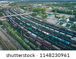 railway station with lots of... | Shutterstock . vector #1148230961