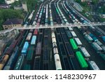 railway station with lots of... | Shutterstock . vector #1148230967