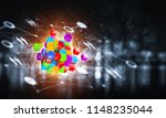 conceptual background image... | Shutterstock . vector #1148235044