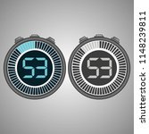 electronic digital stopwatch.... | Shutterstock .eps vector #1148239811