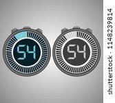 electronic digital stopwatch.... | Shutterstock .eps vector #1148239814