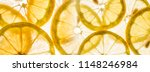 slices of lemon   macro detail | Shutterstock . vector #1148246984