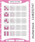 repeat purple pattern. cube... | Shutterstock .eps vector #1148252747