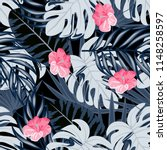 summer seamless pattern with... | Shutterstock .eps vector #1148258597