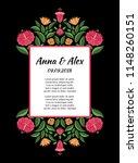 autumn wedding save the date... | Shutterstock .eps vector #1148260151