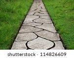 Stone Path Through A Green...