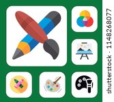 simple set of 6 multi colored... | Shutterstock .eps vector #1148268077
