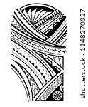 maori tattoo design for the... | Shutterstock .eps vector #1148270327