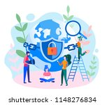 concept data protection ... | Shutterstock .eps vector #1148276834