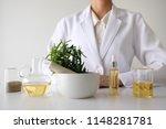 doctor woman scientist making... | Shutterstock . vector #1148281781