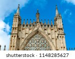 elaborate tracery on exterior... | Shutterstock . vector #1148285627