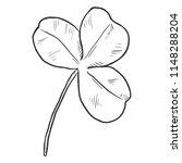 vector single black sketch... | Shutterstock .eps vector #1148288204