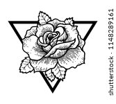 rose tattoo  mystic symbol.... | Shutterstock .eps vector #1148289161