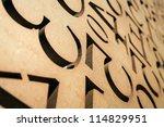 numbers in reverse in steel... | Shutterstock . vector #114829951