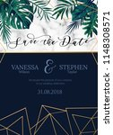 vector invitation card with... | Shutterstock .eps vector #1148308571