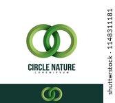 interlocking circles logo ... | Shutterstock .eps vector #1148311181