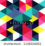 multicolored triangles abstract ... | Shutterstock .eps vector #1148326001