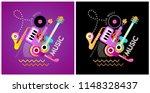 two options of music festival... | Shutterstock .eps vector #1148328437