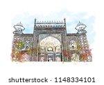 taj mahal  mausoleum in agra ...   Shutterstock .eps vector #1148334101