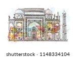 taj mahal  mausoleum in agra ...   Shutterstock .eps vector #1148334104
