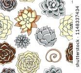 vector succulents seamless... | Shutterstock .eps vector #1148337434