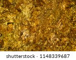 shiny yellow gold leaf or... | Shutterstock . vector #1148339687