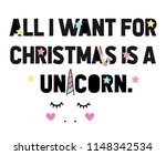 all i want for christmas is a... | Shutterstock .eps vector #1148342534