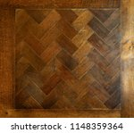 old wooden maple table with... | Shutterstock . vector #1148359364