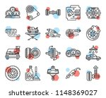 set of 20 icons such as...   Shutterstock .eps vector #1148369027