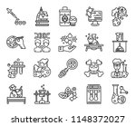 set of 20 icons such as cell... | Shutterstock .eps vector #1148372027