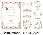 wedding graphic set with... | Shutterstock .eps vector #1148372924