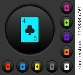 four of clubs card dark push... | Shutterstock .eps vector #1148385791