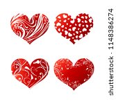 set pattern of hearts. love... | Shutterstock .eps vector #1148386274