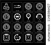 set of 16 icons such as the 29...   Shutterstock .eps vector #1148386427