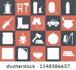 set of 20 icons such as log ...