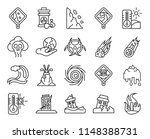 set of 20 icons such as fire ... | Shutterstock .eps vector #1148388731