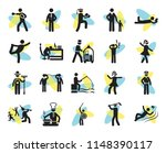 set of 20 simple editable icons ... | Shutterstock .eps vector #1148390117
