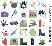 set of 25 icons such as pot ...