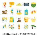 set of 20 icons such as palm...